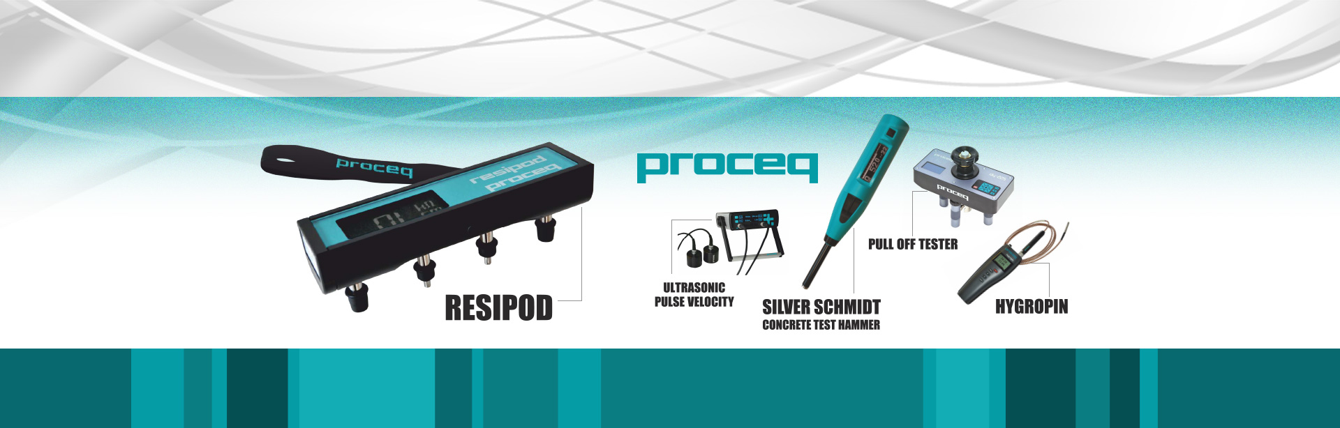 Authorized dealer of Proceq rebound Hammer, pull off tester.